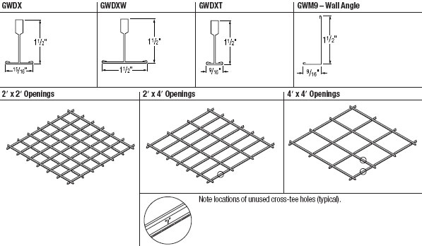 GridWare Main Tee Profiles and Layouts