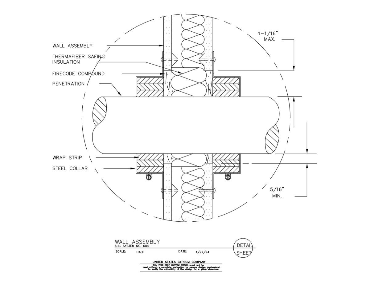 USG Design Studio   Fire Rated Assembly - Download Details