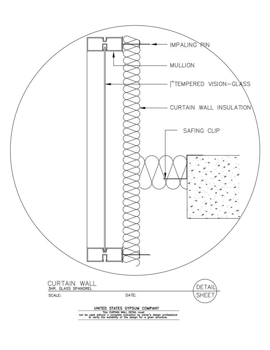 Weatherproof spandrel glass penetration