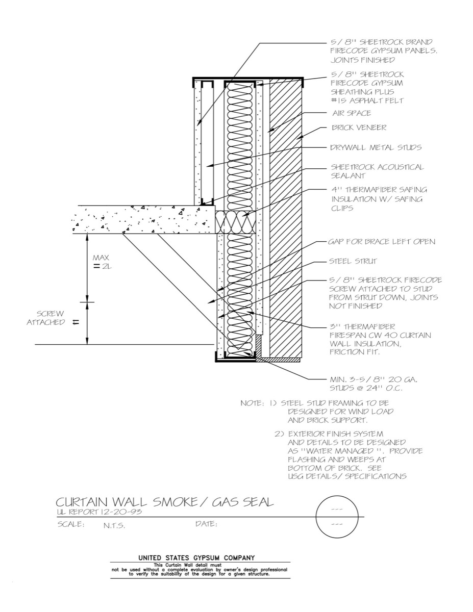 Curtain Wall Firestopping Detail · View Detail CAD · PDF · Image
