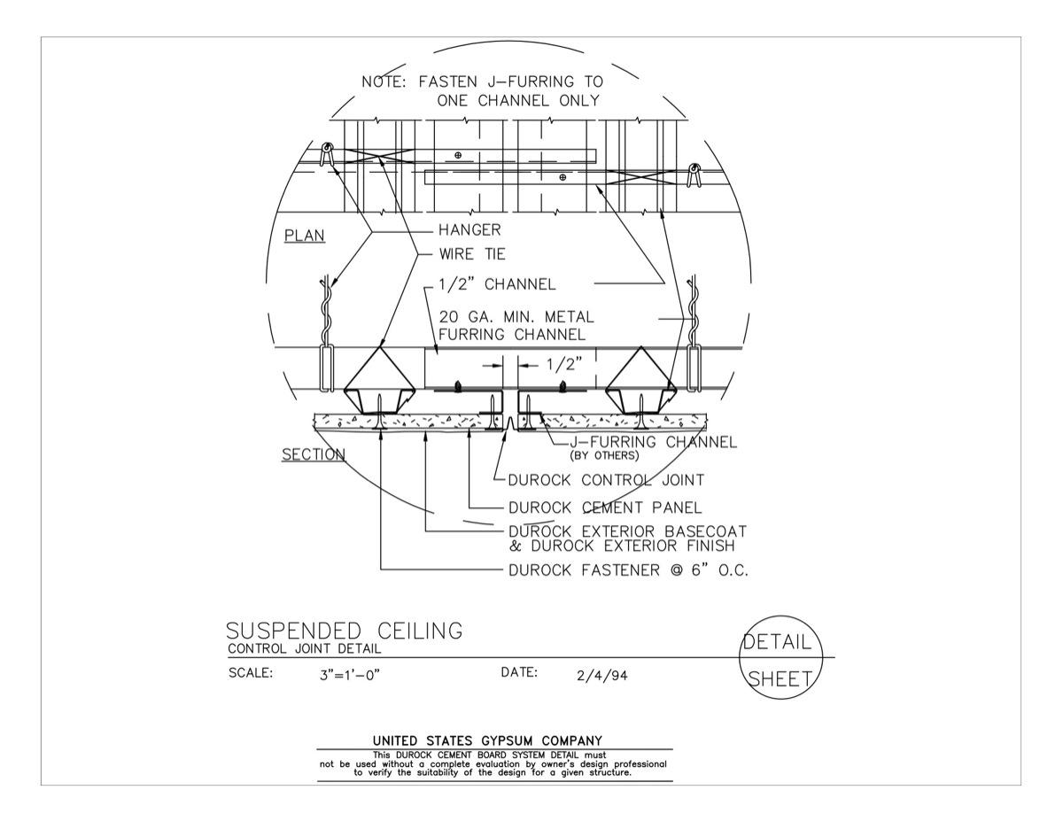 Usg design studio download details for Exterior z furring channel