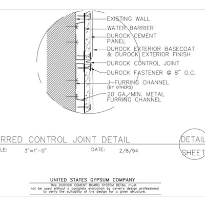 09 21 16.03.107 DUROCK Control Joint Detail DWC20 Channels