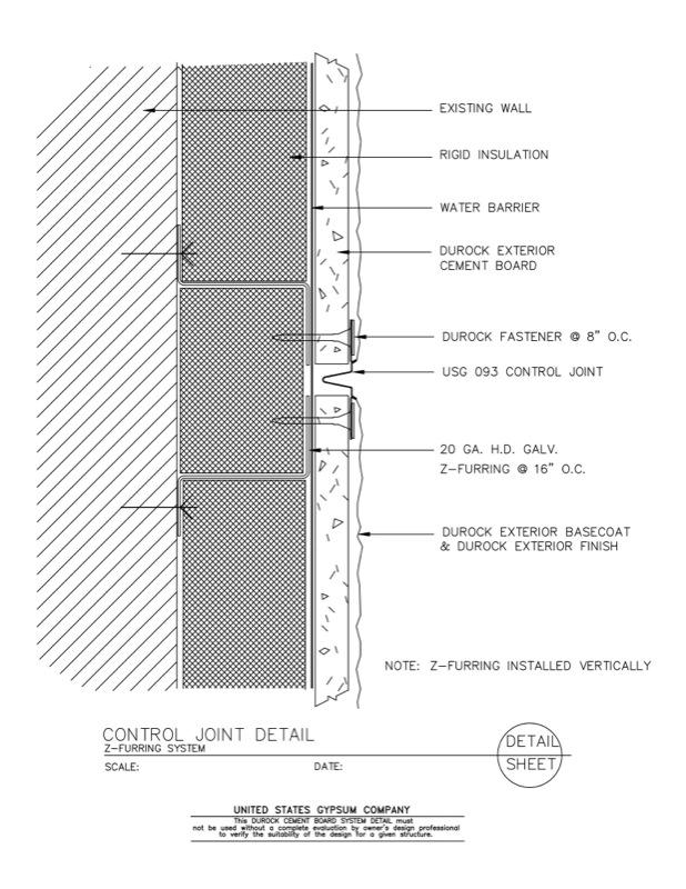 Marvelous 09 21 16.03.108 DUROCK Control Joint Detail Z Furring System