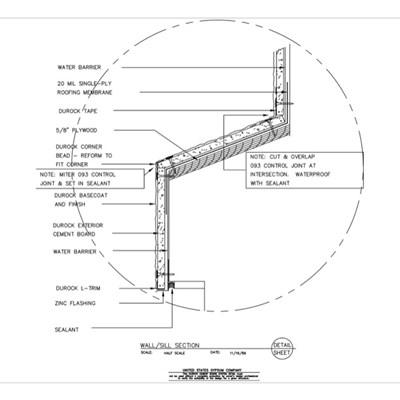 Usg design studio window sill download details for Window jamb design