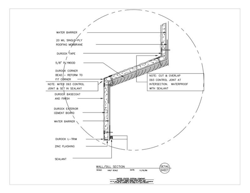 Usg Design Studio 09 21 16 03 1211 Durock Wall Sill
