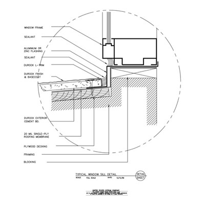 Usg design studio window sill download details for Section window design