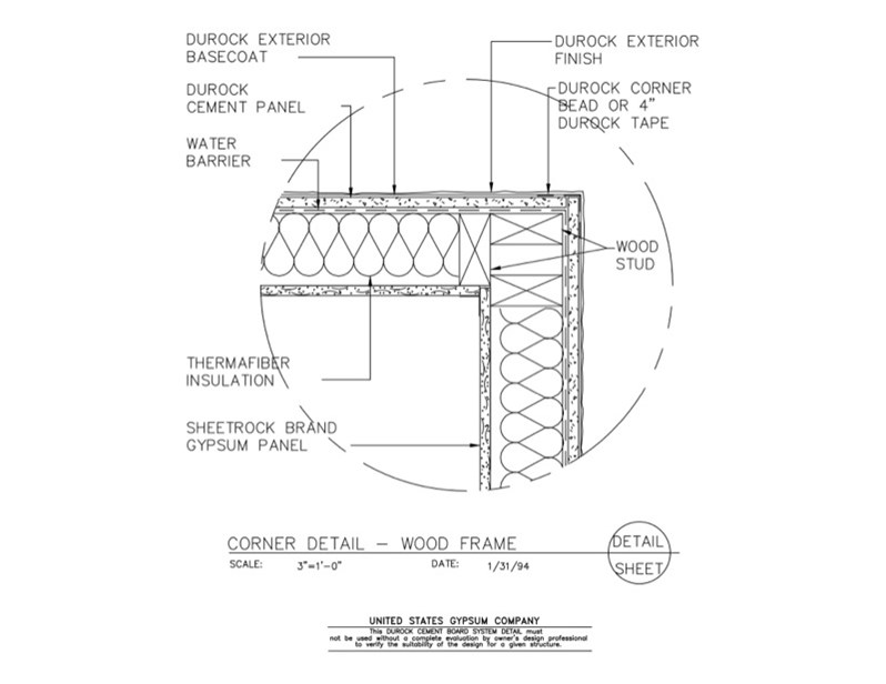 Usg Design Studio 09 21 16 03 224 Durock Corner Detail