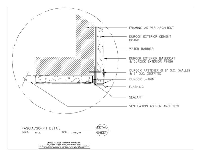Usg Design Studio 09 21 16 03 232 Durock Fascia Soffit