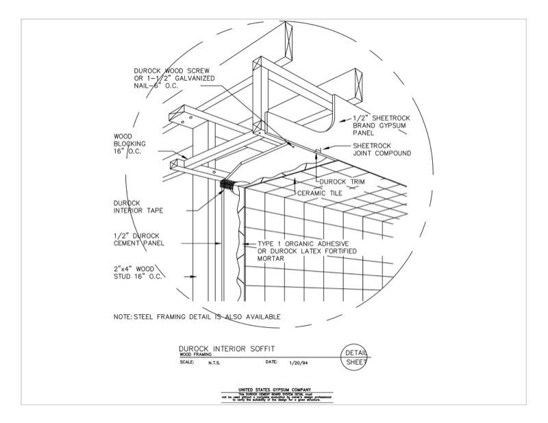 09 21 16.03.234 DUROCK Isometric Interior Soffit Detail