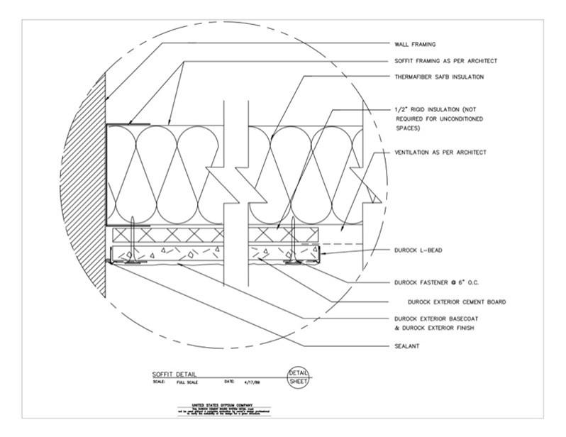 Usg Design Studio 09 21 16 03 236 Durock Soffit Detail