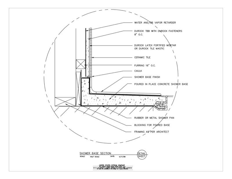 Nice 09 21 16.03.254 DUROCK Wet Area Shower Base Section