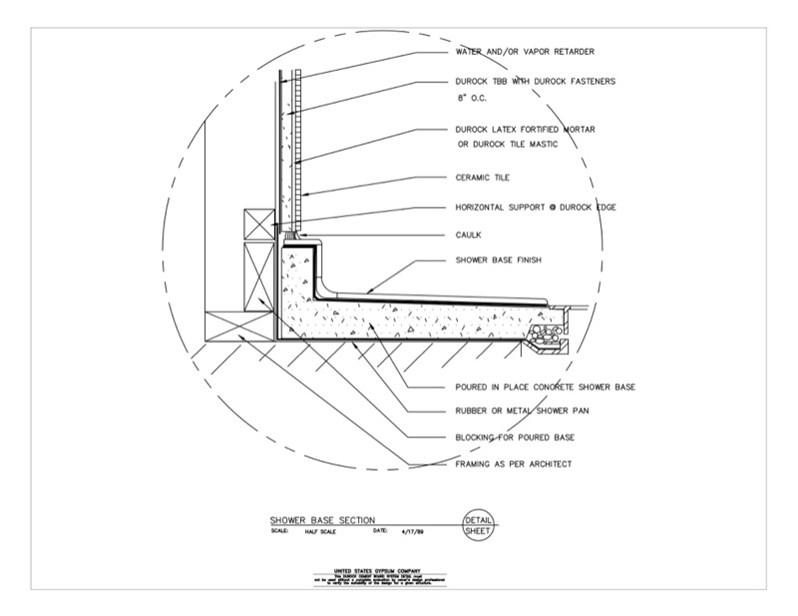 Usg Design Studio 09 21 16 03 255 Durock Wet Area Shower