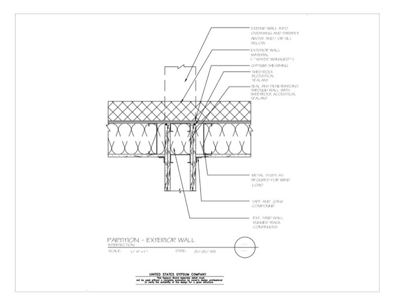 Usg Design Studio 09 21 16 1111 Gypsum Board Assembly
