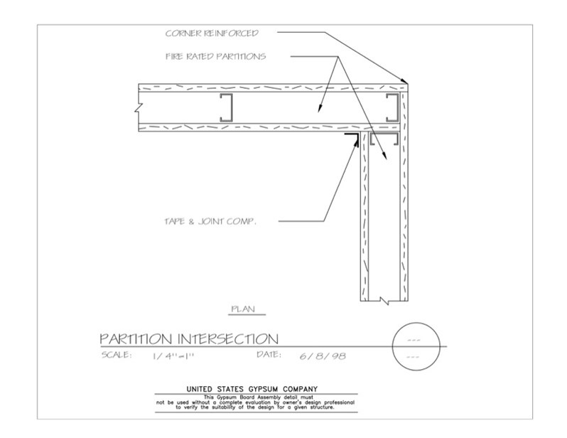 Usg Design Studio 09 21 16 111 Gypsum Board Assembly