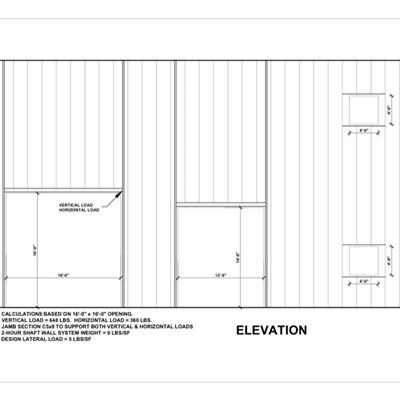 09 21 16.23.003 Shaft Wall Elevation