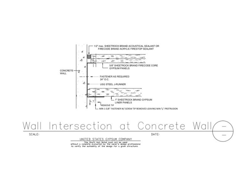 USG Design Studio | 09 21 16 23 114 Shaft Wall Shaft Wall at