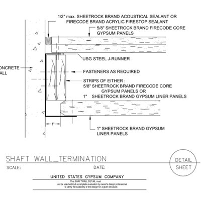 09 21 16.23.117  Shaft Wall Termination 415-B J Runner - gap