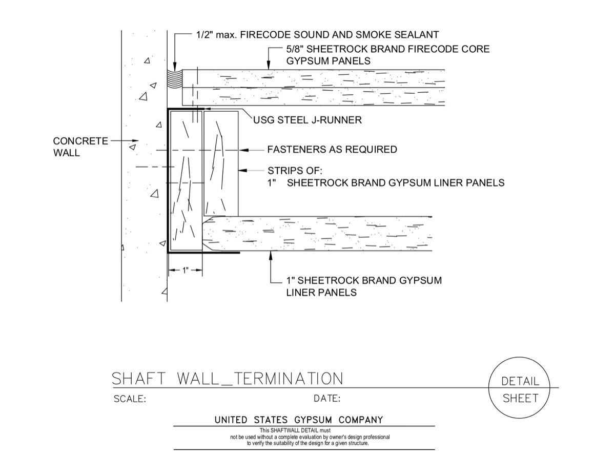 USG Design Studio | Shaft Wall - Runner - Download Details
