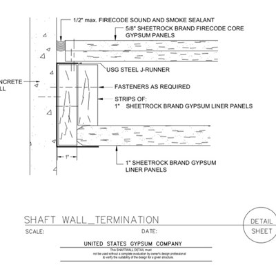 09 21 16.23.118 Shaft Wall Termination 415-B J Runner - gap