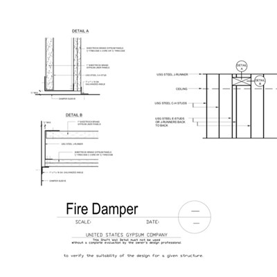 09 21 16.23.204 Shaft Wall Fire Damper