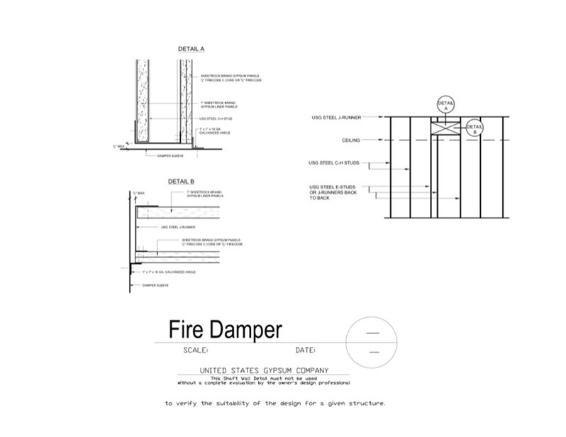 Usg Design Studio 09 21 16 23 204 Shaft Wall Fire Damper