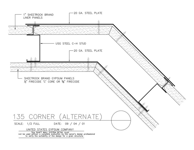 USG Design Studio | Shaft Wall - Corner Details - Download Details