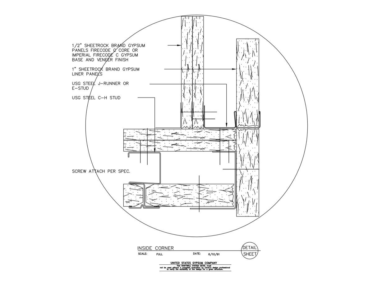 09 21 16 23 225 Shaft Wall Inside Corner Detail Download