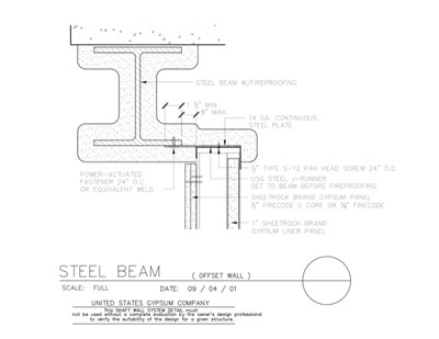 Fireproofing Steel Column On Architectural Drawings