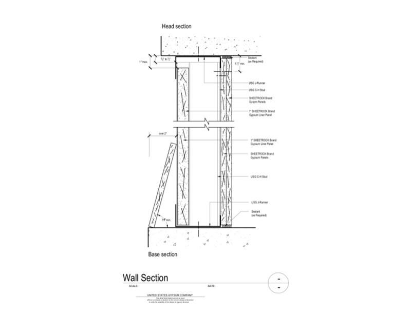 Usg Design Studio 09 21 16 23 311 Shaft Wall Wall