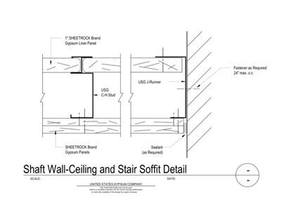 Shaft Wall - Download Details | USG Design Studio