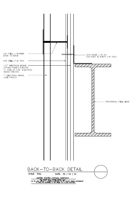 USG Design Studio | 09 21 16.23.371 Shaft Wall Horizontal ...