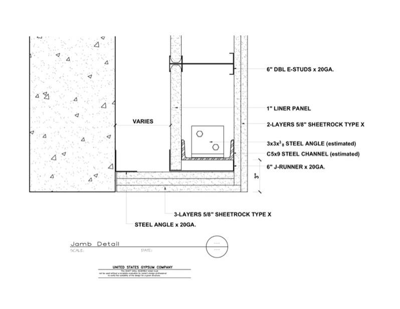 Usg Design Studio 09 21 16 23 383 Shaft Wall Jamb Detail