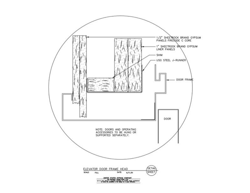 Usg Design Studio 09 21 16 23 392 Shaft Wall Elevator