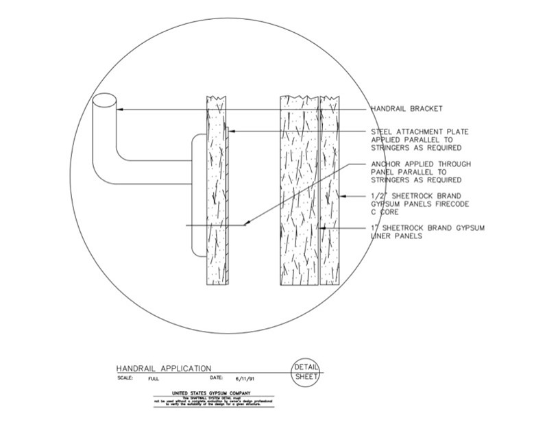 Usg Design Studio 09 21 16 23 396 Shaft Wall Handrail