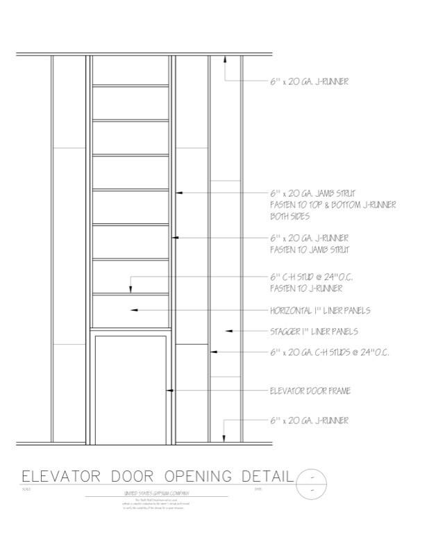 wood door jamb detail. 09 21 1623397 shaft wall elevator door opening detail wood jamb