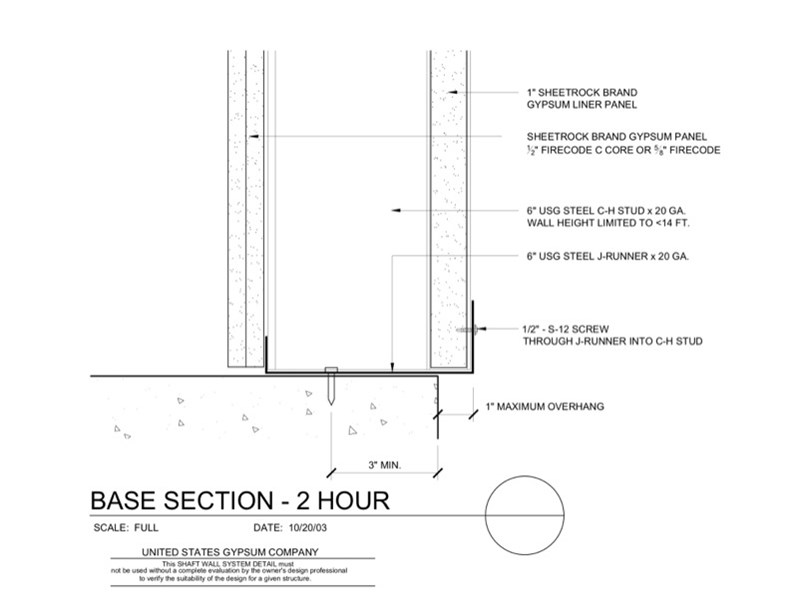 Usg Design Studio 09 21 Shaft Wall Base Overhang Download Details