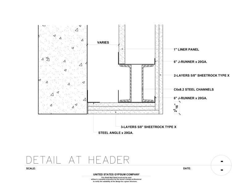 metal framing header detail. Unique Framing 09 21 1623411 Shaft Wall Header Detail Throughout Metal Framing 9