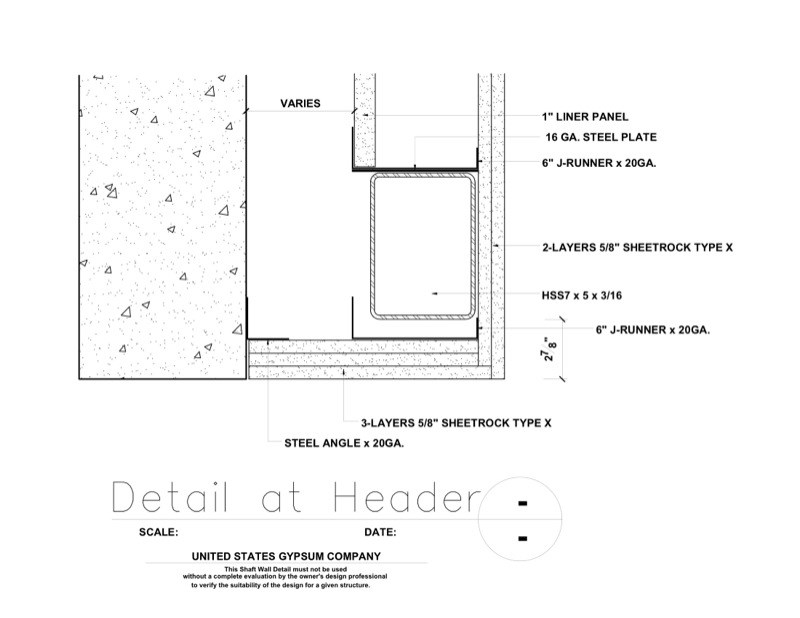 metal framing header detail. Perfect Framing 09 21 1623412 Shaft Wall Header Detail For Metal Framing 1