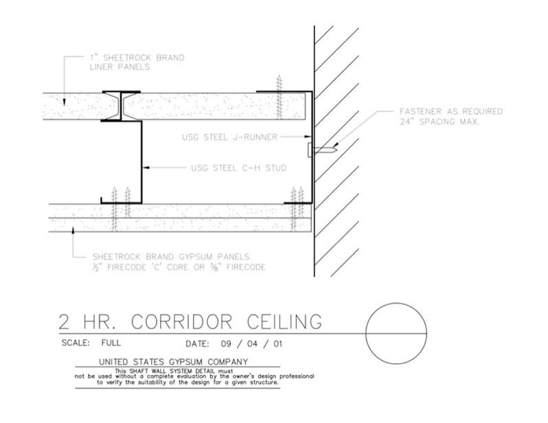 Usg Design Studio 09 21 16 23 414 Shaft Wall Wall