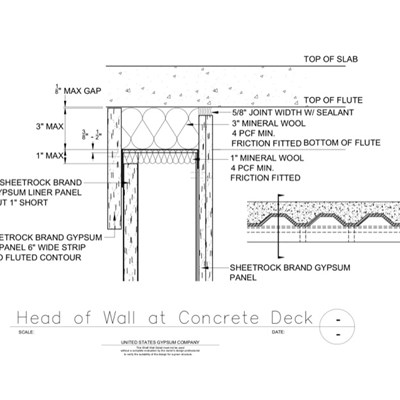 09 21 16.23.434 Shaft Wall Concrete Deck at Shaft Wall HW-D-0372