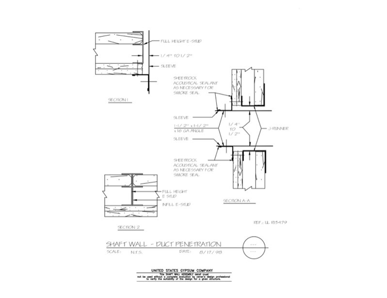 Usg Design Studio 09 21 16 23 477 Shaft Wall Duct