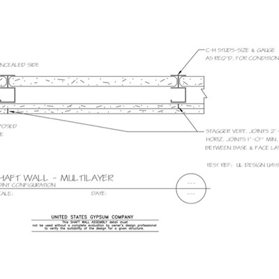 09 21 16.23.481 Shaft Wall Multilayer Joint Configuration