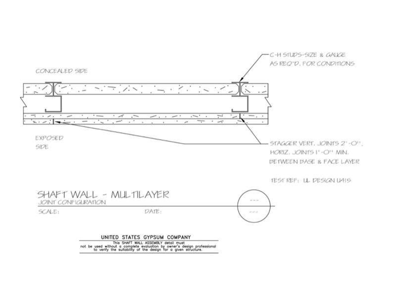 Horizontal Shaftwall Assembly Ul
