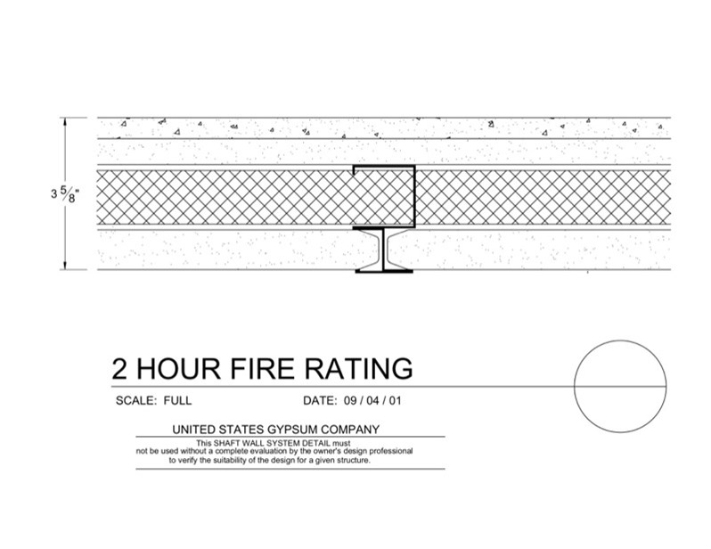 2 Hour Fire Rated Wall Construction : Usg design studio  shaft wall hr