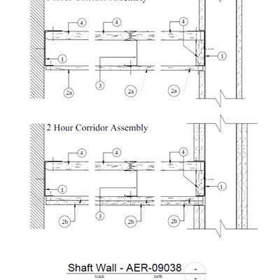 09 21 16.23.515 Shaft Wall 1-Hr. AER-09038