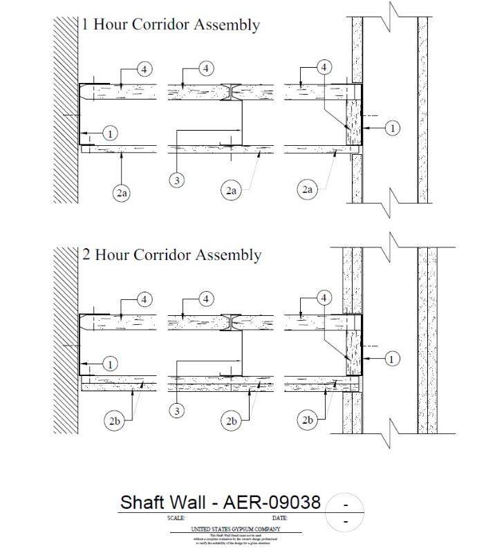 Usg Design Studio 09 21 16 23 515 Shaft Wall 1 Hr Aer