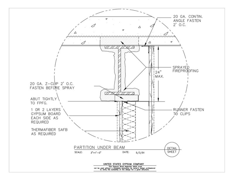 09 21 16 314 Gypsum Board Assembly Structural Detail