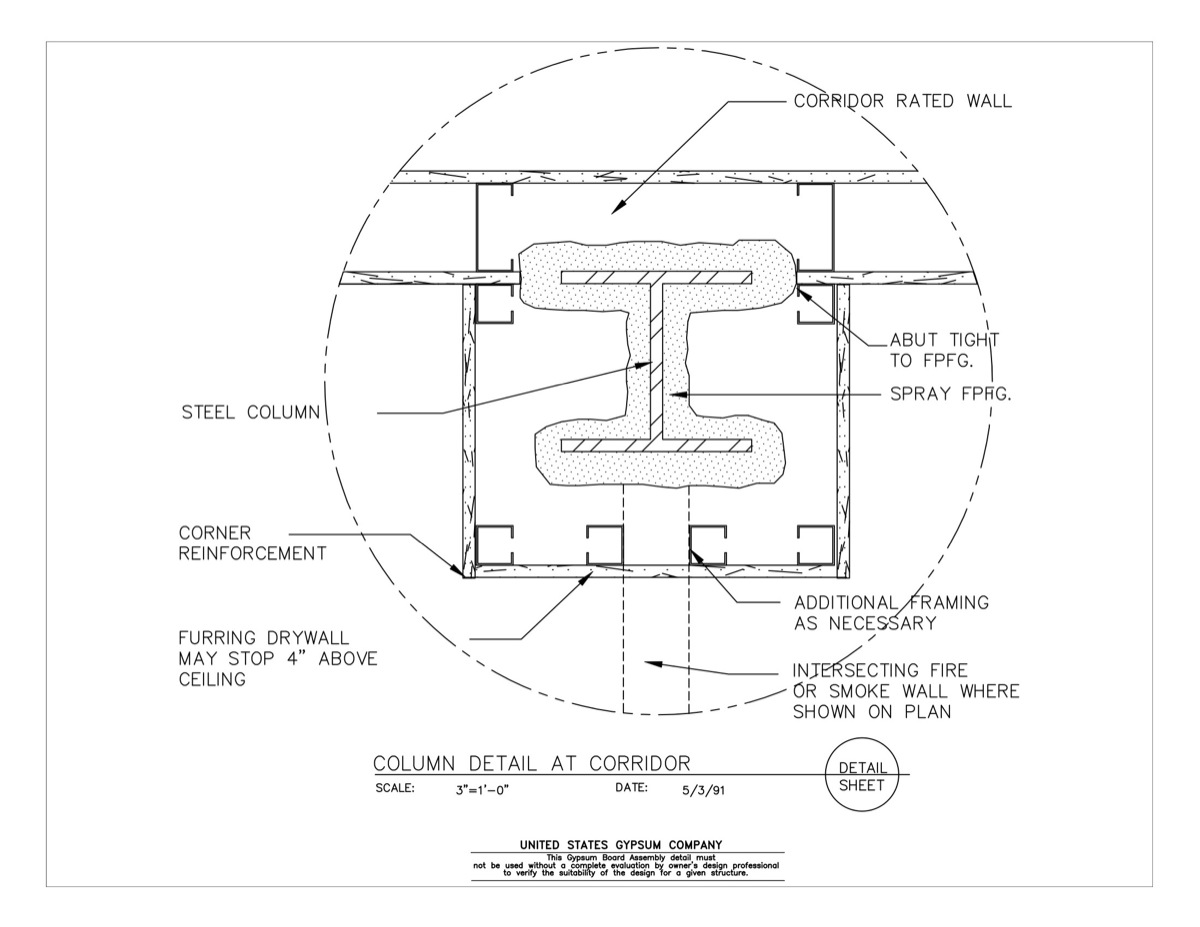 09 21 16 315 Gypsum Board Assembly Structural Detail