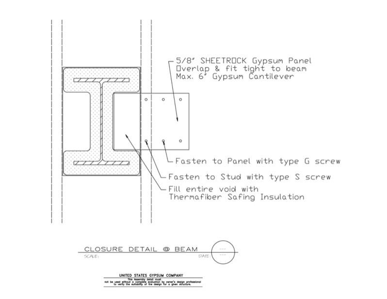 Usg Design Studio 09 21 16 317 Gypsum Board Assembly