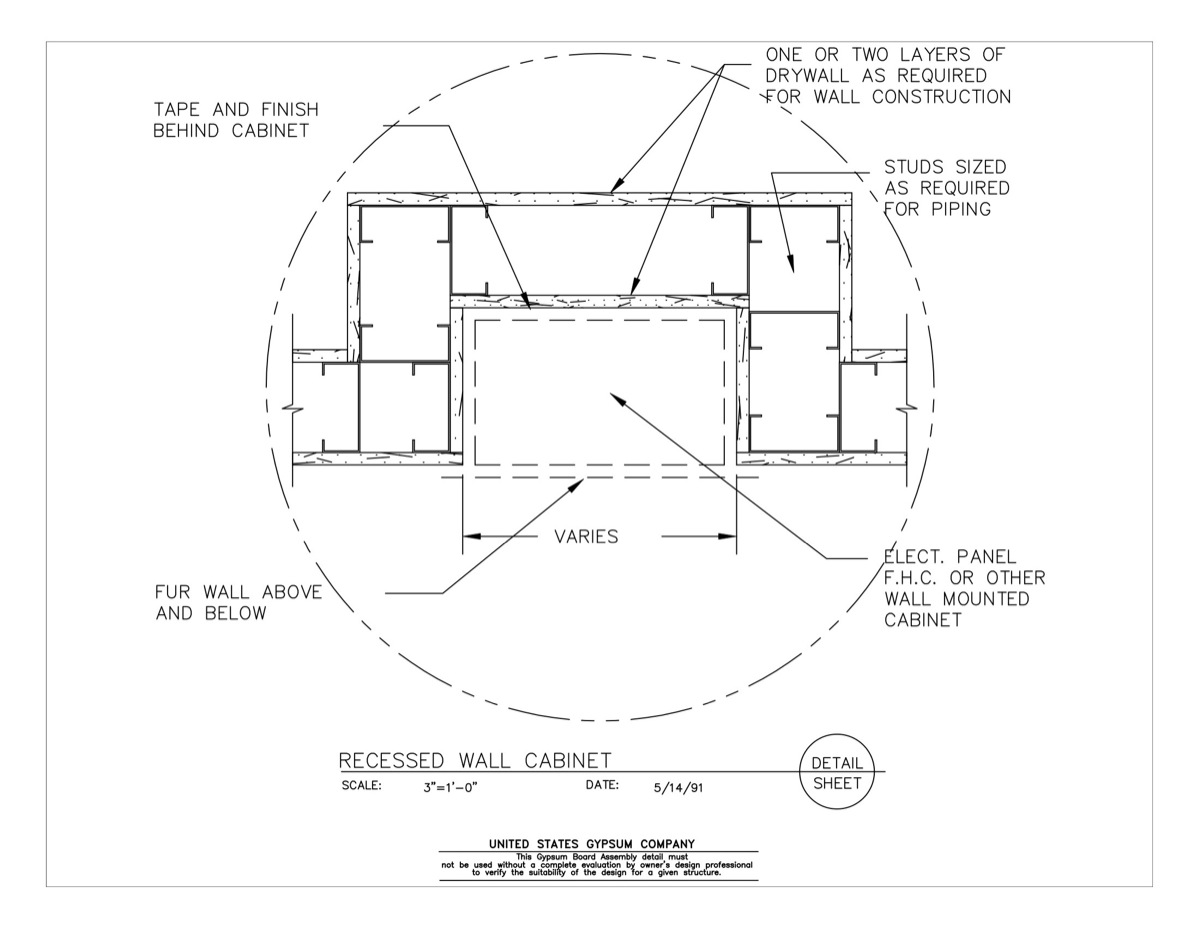 09 21 16 324 Gypsum Board Assembly Attachments Recessed